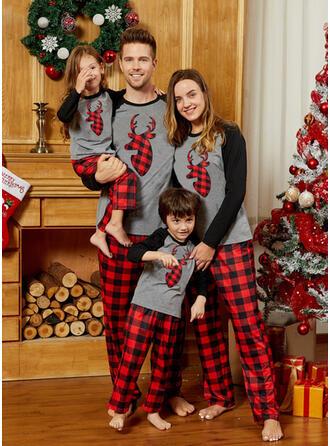 Hert Plaid Voor Gezinnen Kerst Pyjamas