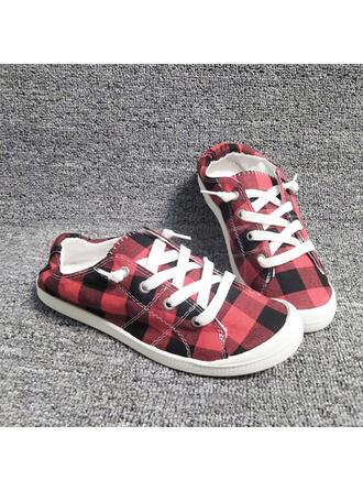 Vrouwen Doek Flat Heel Flats Ronde neus Espadrille met Vastrijgen Las kleur schoenen