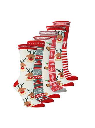 Rendier van Kerstmis Comfortabel/Kerstmis/Crew sokken/Unisex Sokken