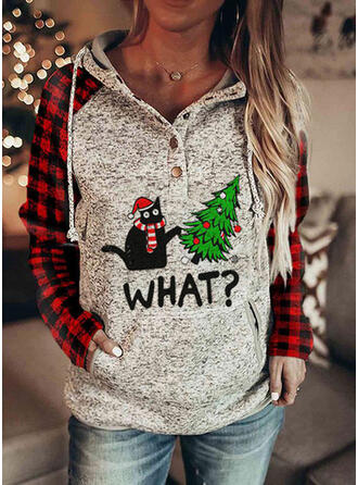 Dierenprint rooster Figuur Lange Mouwen Kerst Sweatshirt