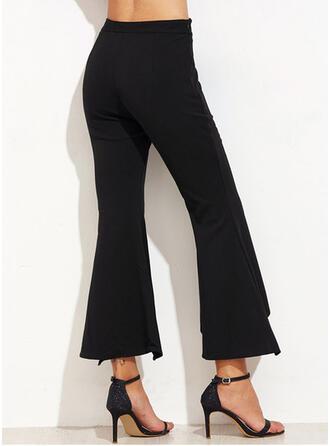 Lapwerk Shirred Grote maat Bijgesneden Elegant Sexy Broeken