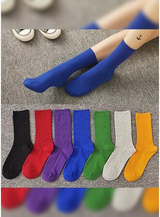 Effen kleur/Kleurrijk Ademend/Comfortabel/Crew sokken/Unisex Sokken