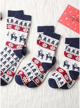 Plaid/Rendier van Kerstmis Comfortabel/Kerstmis/Crew sokken/Unisex Sokken
