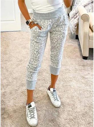 Zakken luipaard Casual Print Lounge broek