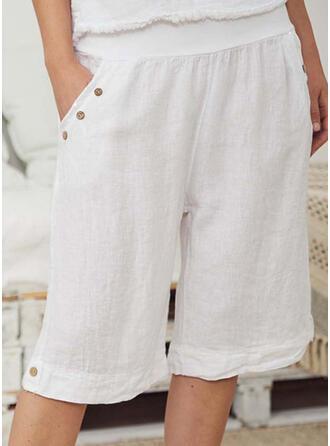Solide Zakken Casual Gewoon Shorts