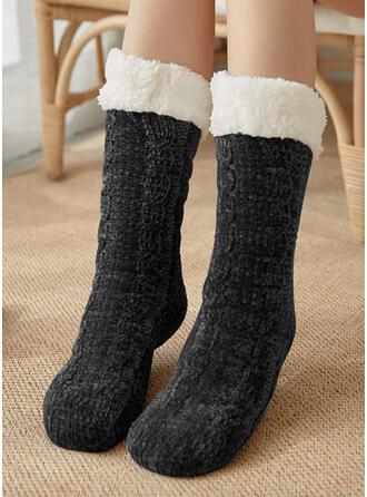 Effen kleur Warme Sokken
