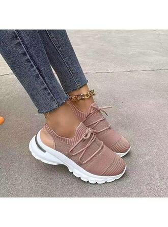 Vrouwen Doek Mesh Flat Heel Flats Ronde neus Dans Sneakers Loafers & Slip-Ons met Vastrijgen Effen kleur schoenen