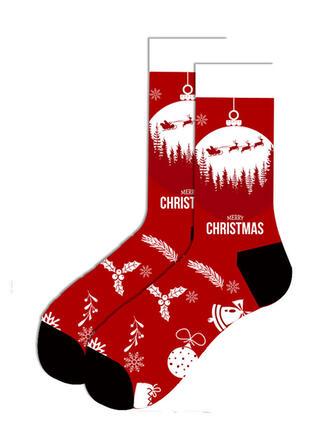 Print/Kerstmis Kerstman Ademend/Kerstmis/Crew sokken Sokken