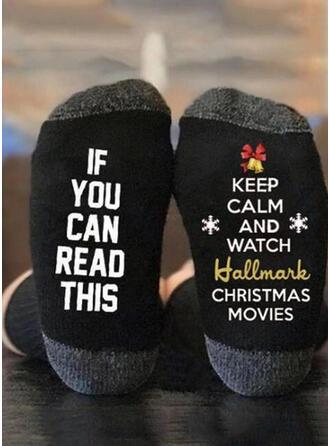 Letter/Print Comfortabel/Kerstmis/Crew sokken Sokken