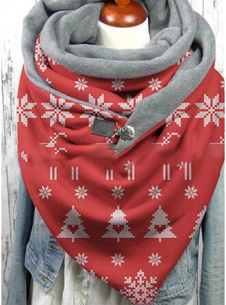Geometrische Print/Kerstmis- mode/Kerstmis Sjaal