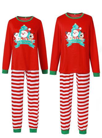 De Kerstman Streep Spotprent Voor Gezinnen Kerst Pyjamas