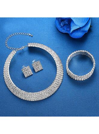 Schijnt Legering Steentjes Sieraden Sets Kettingen Oorbellen Armbanden (Set van 3)
