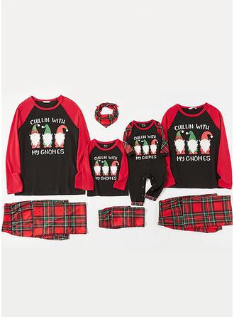 De Kerstman Plaid Letter Voor Gezinnen Kerst Pyjamas