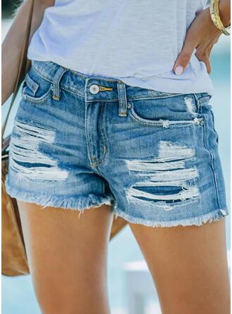 Zakken Grote maat Sexy Jean Shorts Spijkerbroek