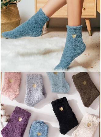 Effen kleur Warme/Comfortabel/vrouwen/Crew sokken/Valentijnsdag Sokken