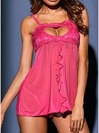 Polyester Spandex kleur Kant Sexy Verleidelijk Onder Jurk Nacht jurk