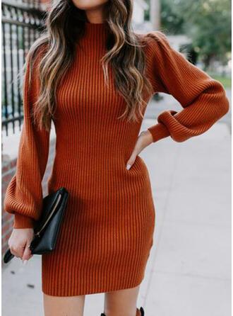 Solide Coltrui Casual Lang Slanke Sweaterjurk