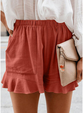 Solide Casual Shorts
