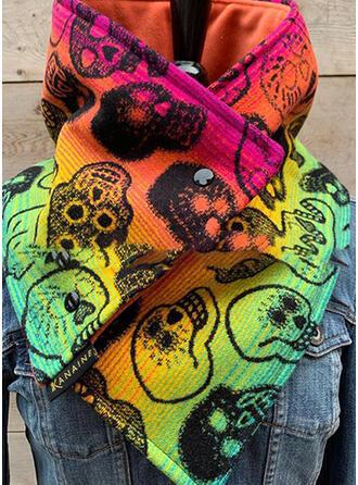 Gradient kleur/grafische prints mode/Schedel print Sjaal