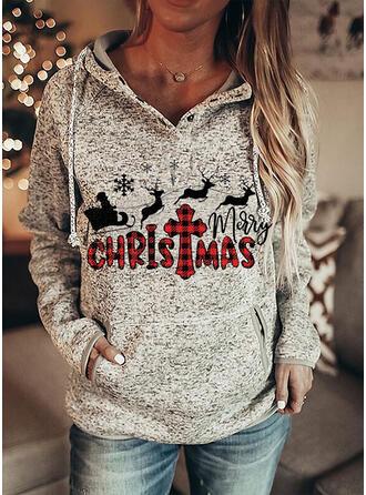 Dierenprint rooster Figuur Zakken Lange Mouwen Kerst Sweatshirt