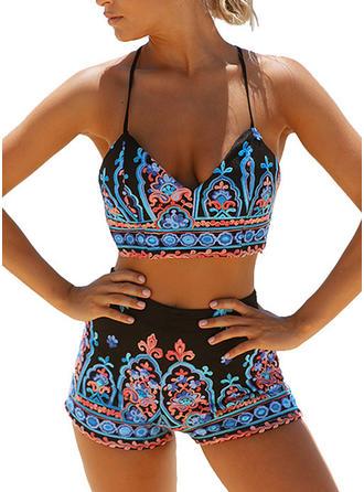 string Tropische afdruk Riem Sexy Bikini's Badpakken