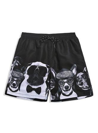 Heren Print bekleed Board Shorts