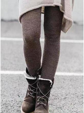 Solide Shirred Grote maat Lang Elegant Sexy Broeken Leggings