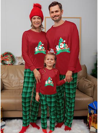 De Kerstman Rendier Plaid Voor Gezinnen Kerst Pyjamas