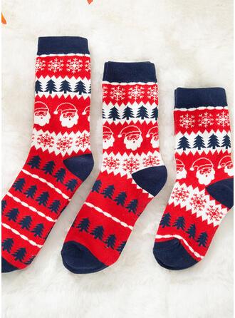 Kerstboom/Kerstmis Kerstman Comfortabel/Kerstmis/Crew sokken/Voor Gezinnen/Unisex Sokken