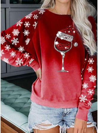 pailletten Ronde nek Lange Mouwen Kerst Sweatshirt