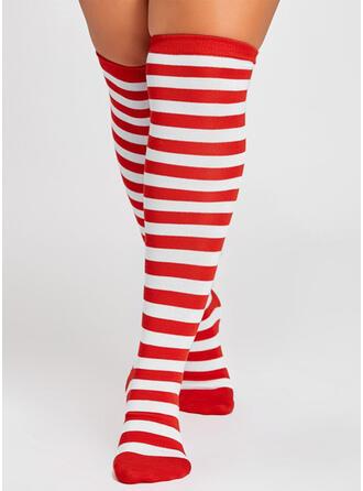 Gestreept Warme/Ademend/Kerstmis/Knie hoge sokken Sokken/kousen