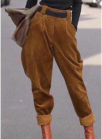 Solide Shirred Grote maat Casual Wijnoogst Lounge broek