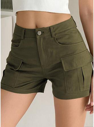 Solide Zakken Casual Solide Shorts