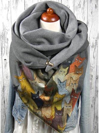 Dierenprint/Kleurrijk mode/Warme/Zwarte kat Sjaal