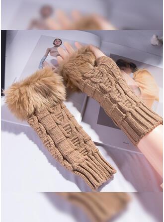 Effen kleur/grafische prints Kleurblok/Huidvriendelijk handschoenen