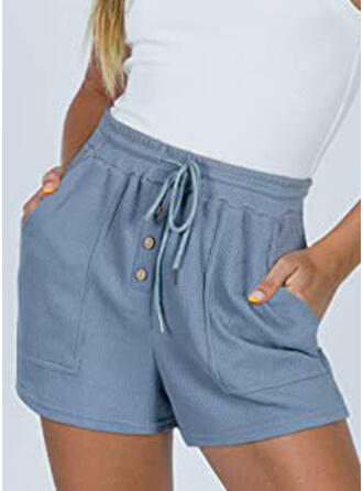 Solide Trekkoord Casual Solide Shorts