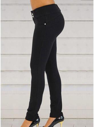 Lapwerk Zakken Shirred Lang Elegant Sexy Broeken