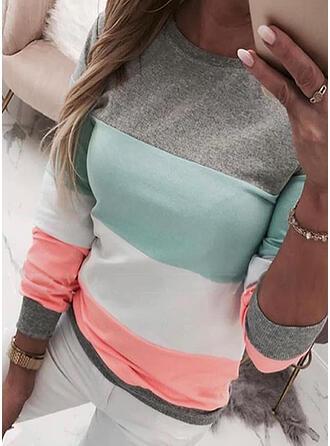 Color Block Ronde nek Lange Mouwen Sweatshirts