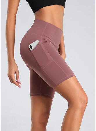 Lapwerk Zakken Grote maat Boven de knie Sexy Yoga Shorts Leggings
