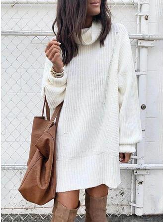 Solide Coltrui Casual Lang Sweaterjurk