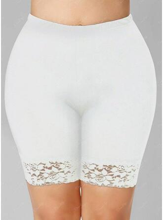 Kant Grote maat Broodmager Rekbaar Shorts Leggings