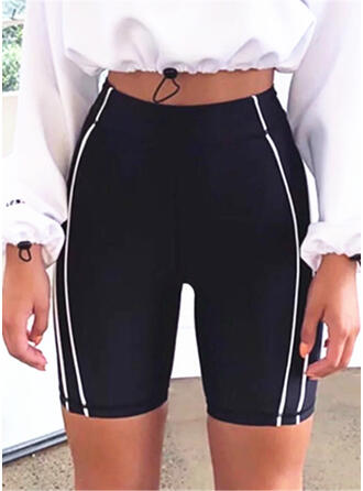 Streep Boven de knie Casual Sexy Broodmager sportieve Shorts
