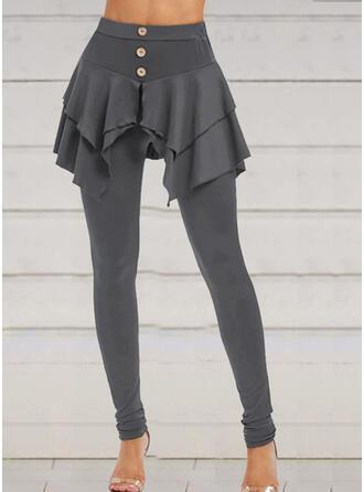 Solide Grote maat Halloween Lang Casual Elegant sportieve Leggings