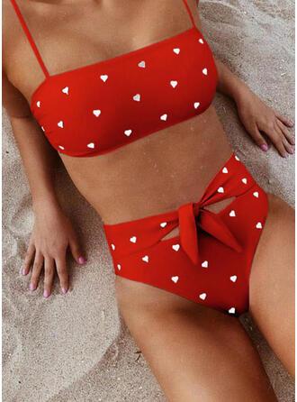 Hoge Taille geknoopt Riem Sexy Schattig Geweldig Bikini's Badpakken