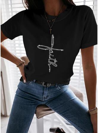pailletten Ronde Hals Korte Mouwen T-shirts