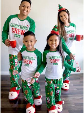 De Kerstman Kleur-Blok Letter Voor Gezinnen Kerst Pyjamas