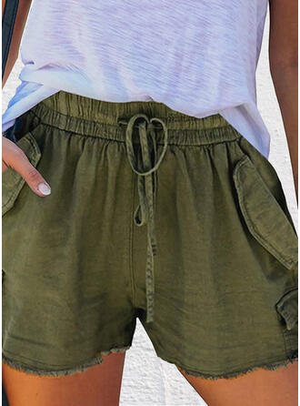 Zakken Grote maat Casual Solide Shorts