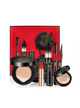 4 STUKS Mat waterbestendig charmant Fleuren Olie controle Licht Lippenstiften Eyeliner BB & CC Cream met Doos