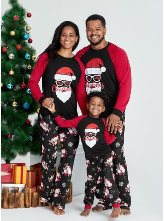 De Kerstman Letter Print Voor Gezinnen Kerst Pyjamas