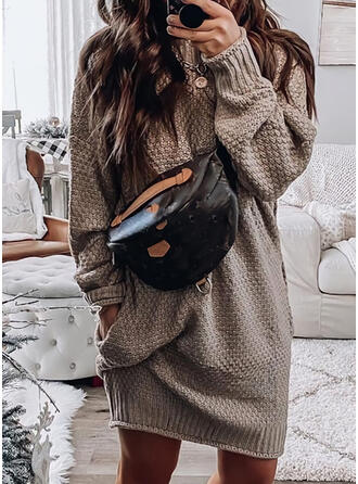 Solide Coltrui Casual Sweaterjurk